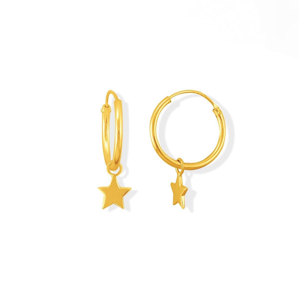 Boma New Earrings 14K Gold Star