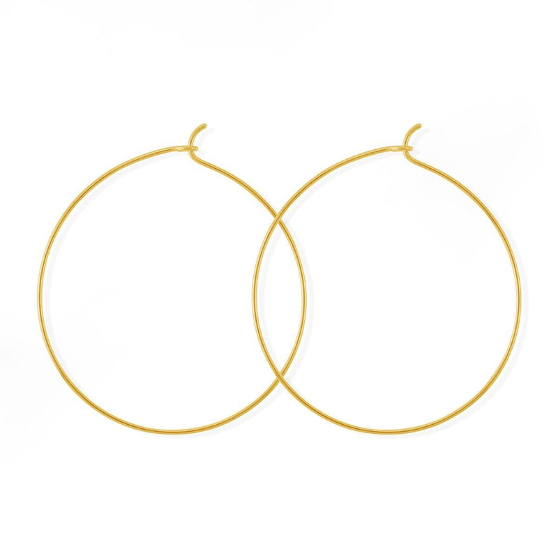 Boma New Earrings 14K Gold Vermeil Aiko Gold Hoops 1.5""