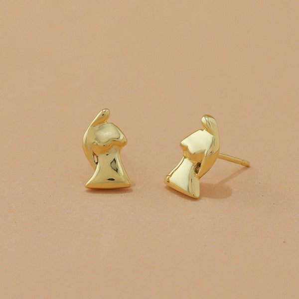 Boma New Earrings 14K Gold Vermeil Aveta Studs