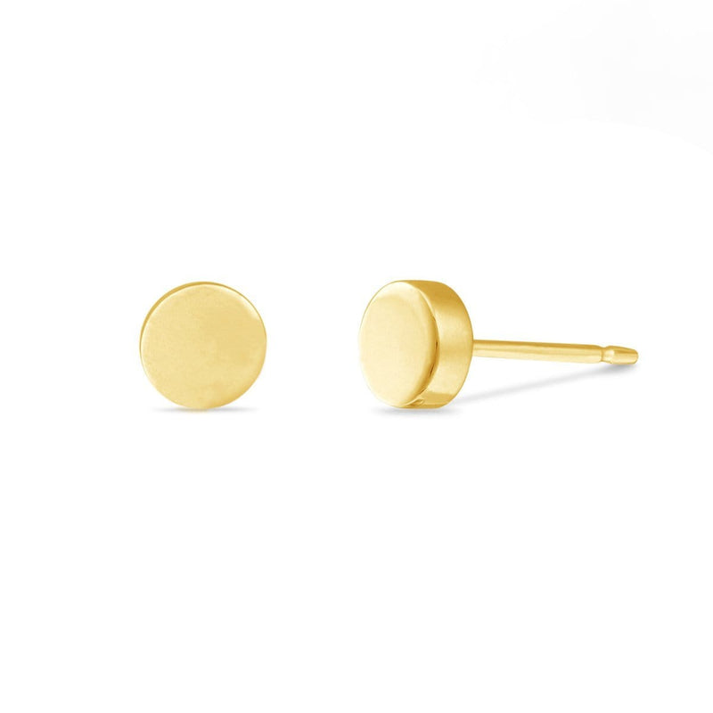 Boma New Earrings 14K Gold Vermeil Belle Circle Studs