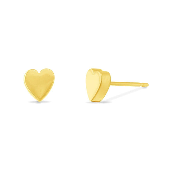 Sterling Silver with 14K gold Vermeil -Heart earrings