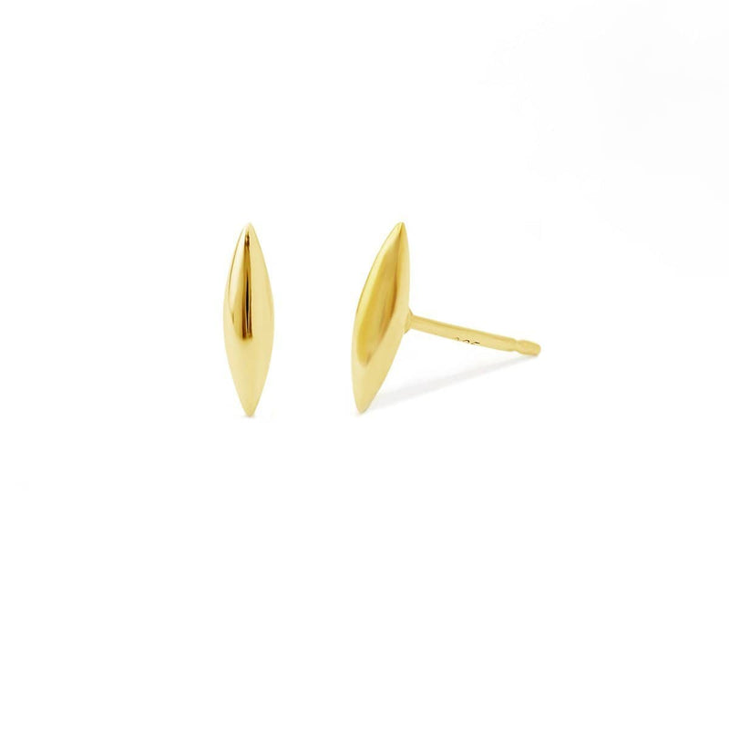 boma jewelry-14k gold vermeil belle rounded earring studs