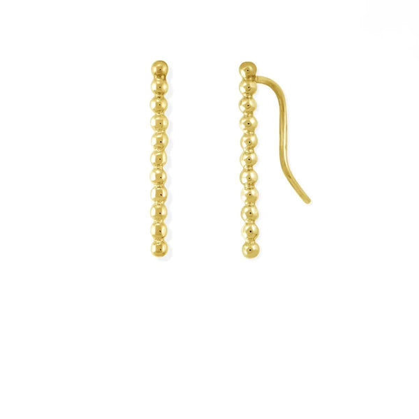 Gold Earring Crawlers,Boma New- Dot Long Bar Ear Crawlers ,Earring Crawlers
