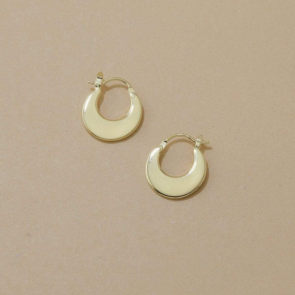 Boma New Earrings 14K Gold Vermeil Parel Hoop