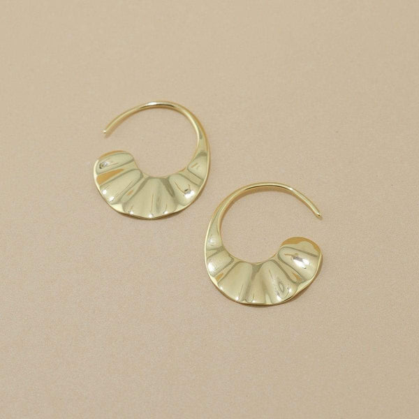 Boma New Earrings 14K Gold Vermeil Veora Hoops