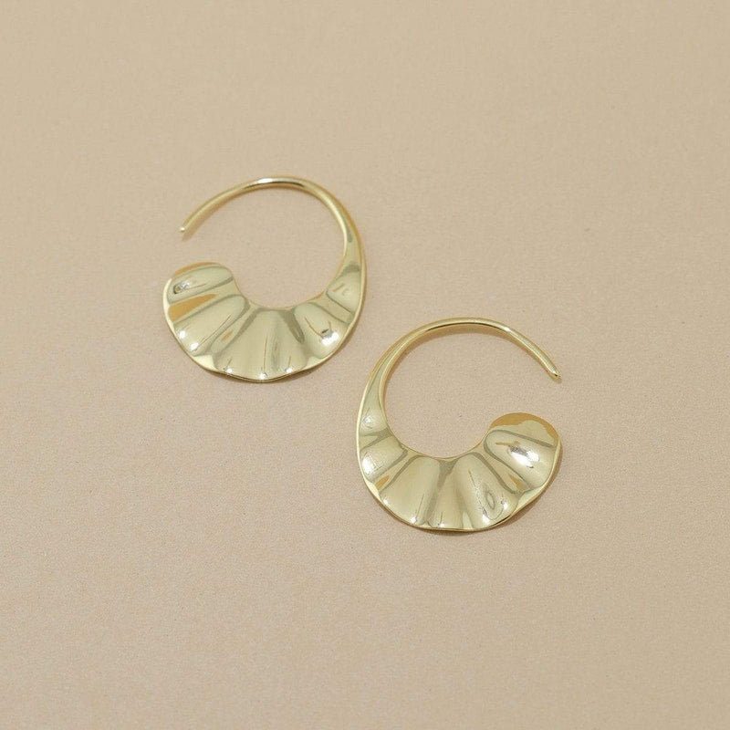 boma jewelry Sterling Silver with 14k gold vermeil hoop earrings