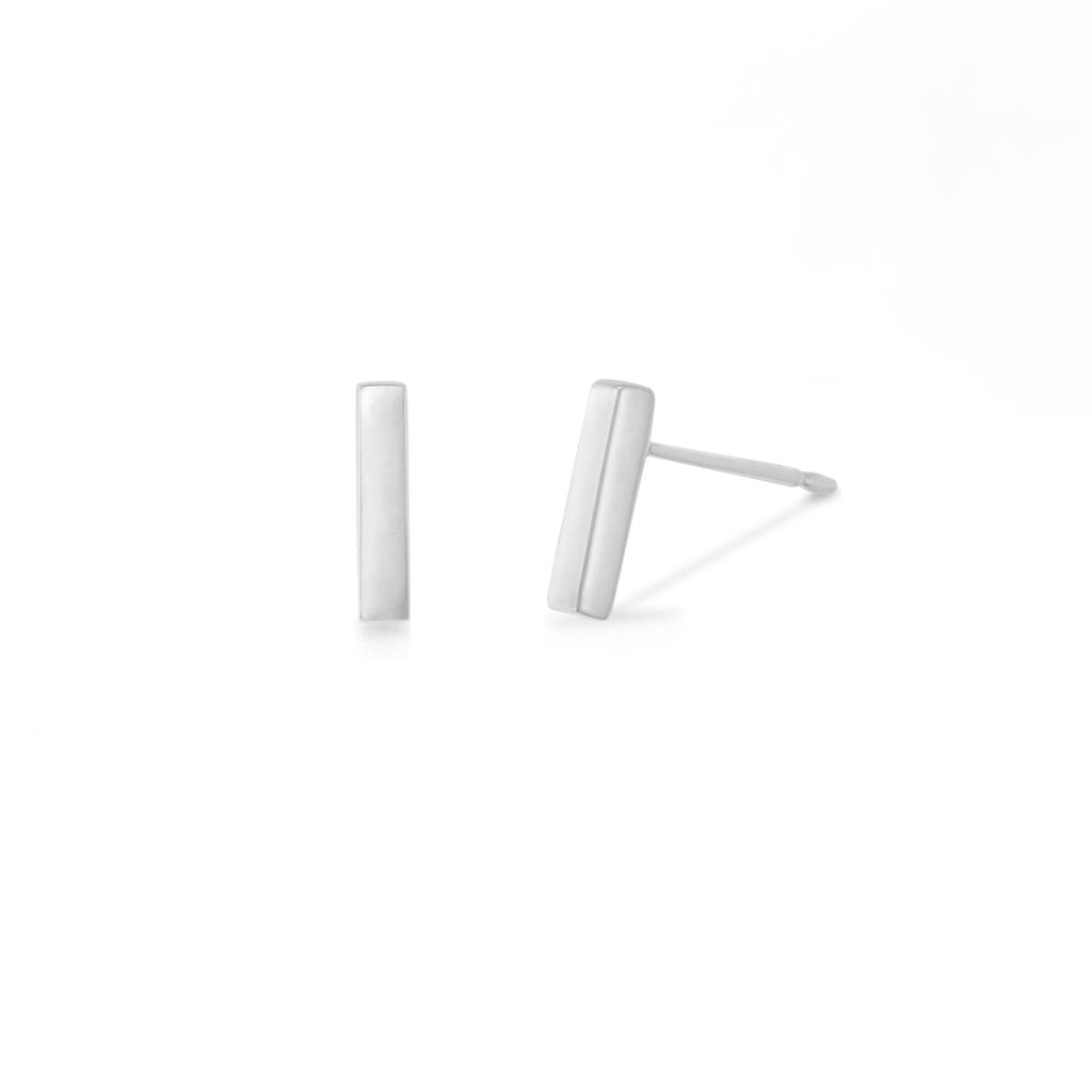 boma new - Sterling Silver Short Bar Studs