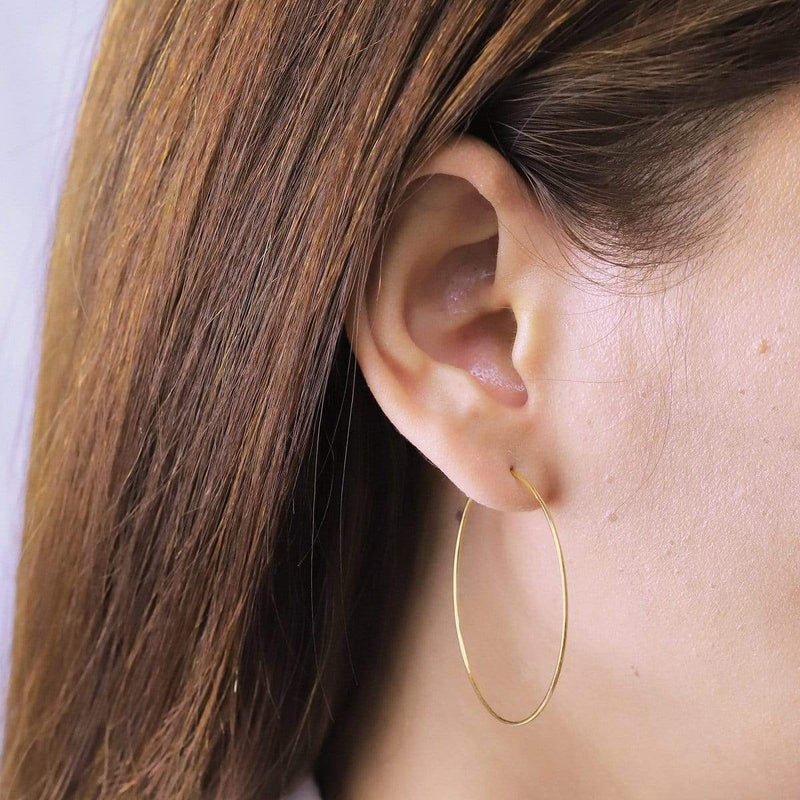 Boma New Earrings Aiko Gold Hoops 1.5""