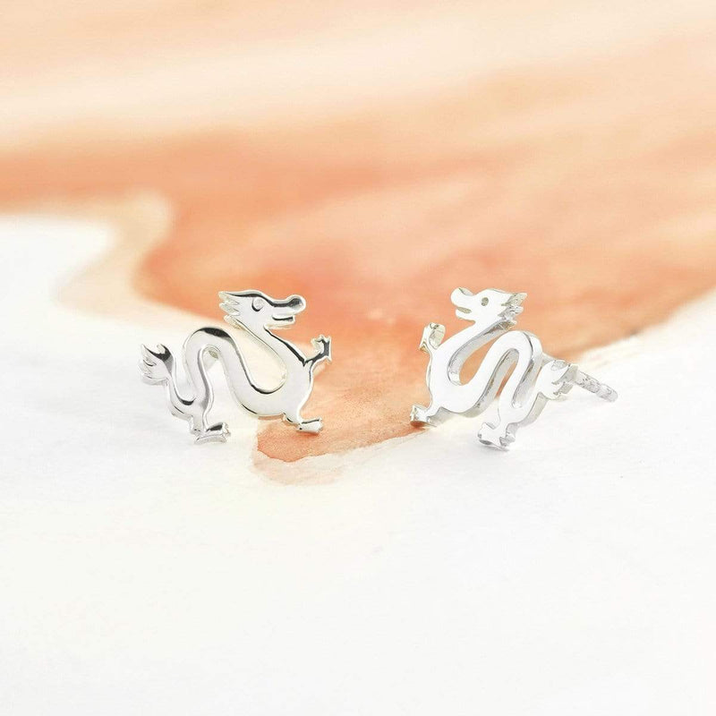 Boma New Earrings Animal Zodiac Dragon Studs