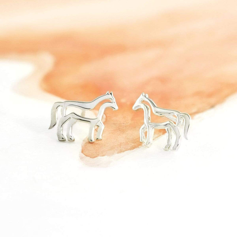 Boma New Earrings Animal Zodiac Horse Studs