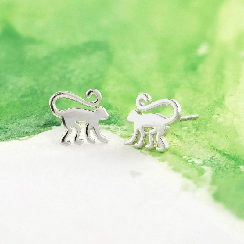 Boma New Earrings Animal Zodiac Monkey Studs