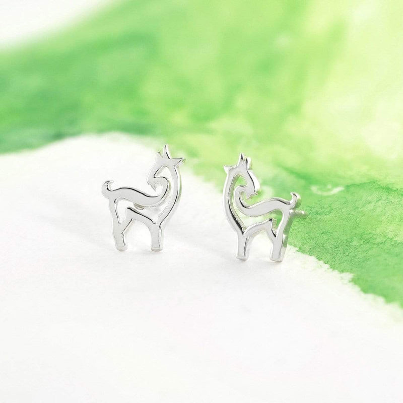 Boma New Earrings Animal Zodiac Ram Studs