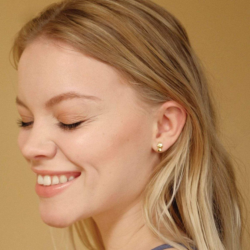 boma new -Earring studs , 14k gold vermeil
