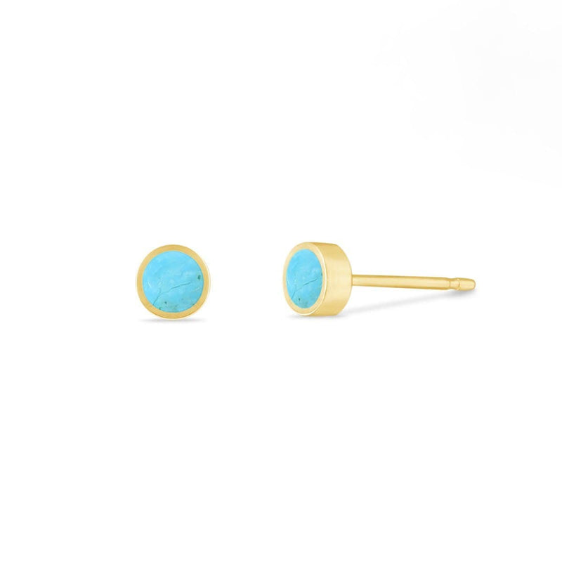 Boma New-Sterling Silver Earrings Belle Mini Studs with Turquoise