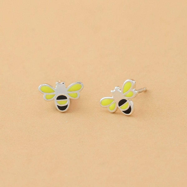 Boma New Earrings Bumble Bee Studs
