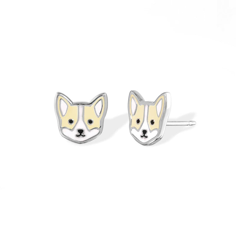 Boma New Earrings Corgi Studs