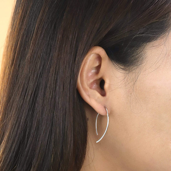 Boma New Earrings Curved Pull Through Hoops