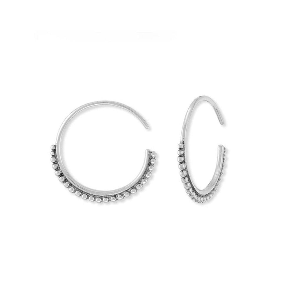 Boma New Earrings Dot Pull Through Hoops