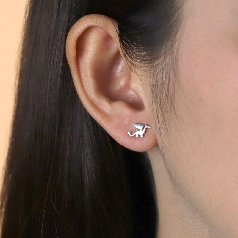 Sterling Silver Dragon Studs