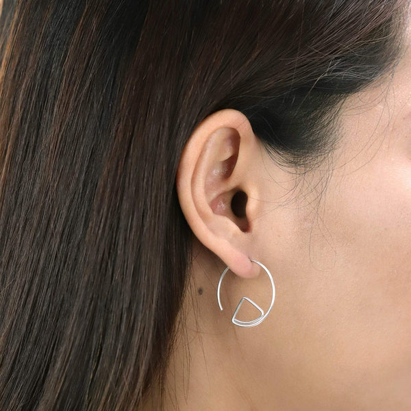 Boma New Earrings Geometric Pull Through Hoops
