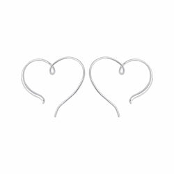 Boma New Earrings Heart Pull Through Hoops