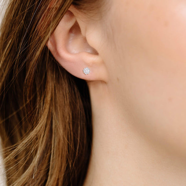 Boma New Earrings Liv Studs with White Topaz