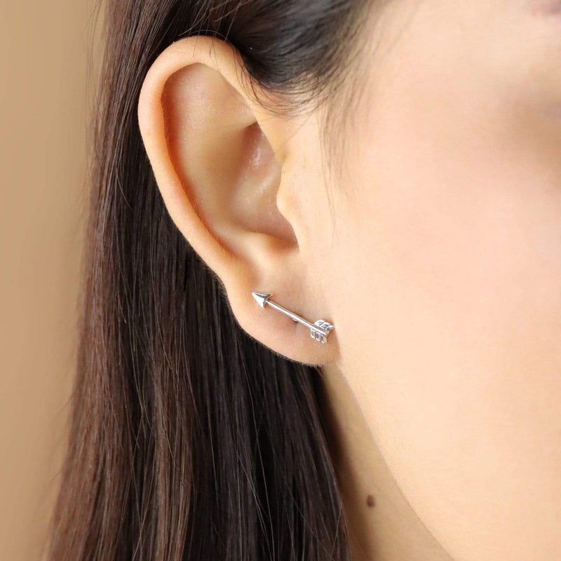 Boma New Earrings Long Arrow Studs