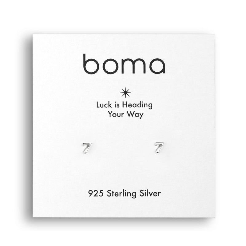 Boma New Earrings Lucky Seven Studs