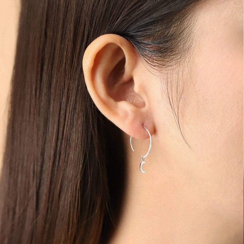 Boma New Earrings LUNE & ETOILE  Dangle Pull Through Hoops