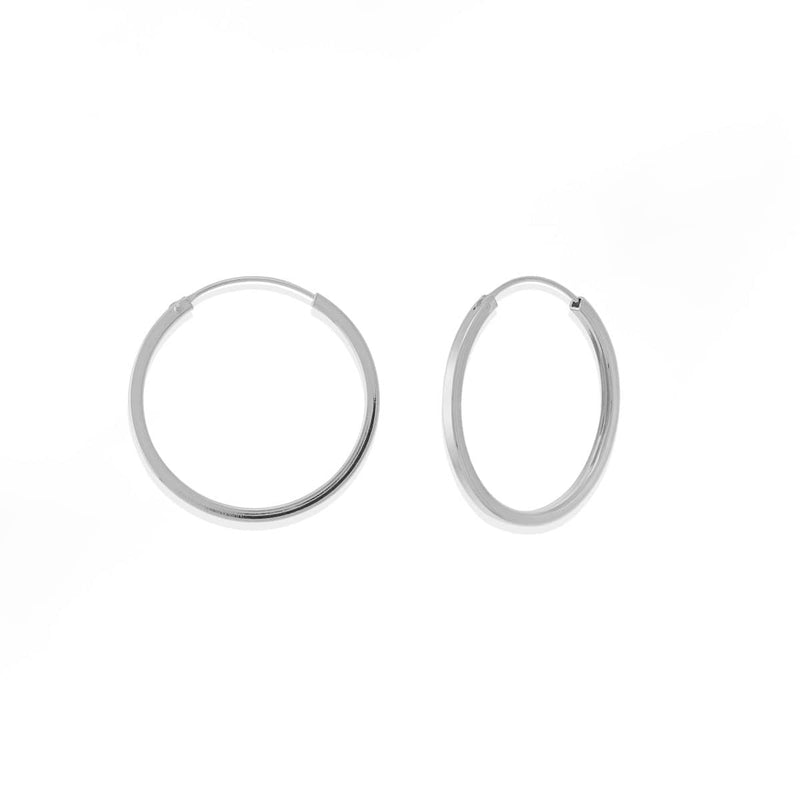 boma new Silver hoop earring