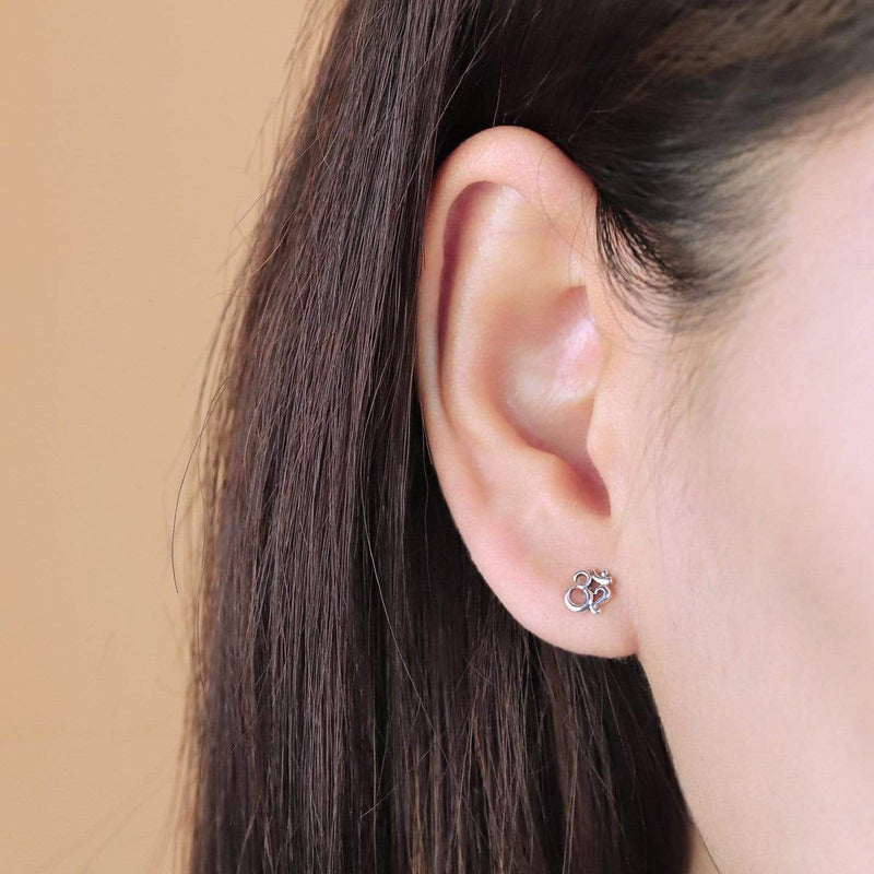 Om Earrings non-toxic