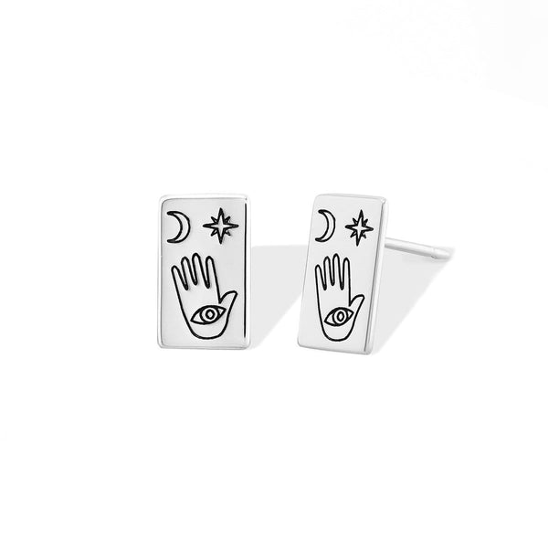 Boma New Earrings Palm Reading Studs