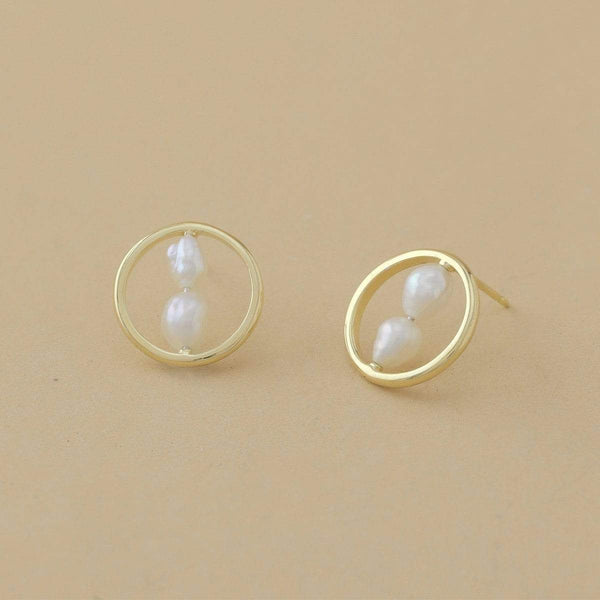 Boma New Earrings Parel Double Pearl Earrings