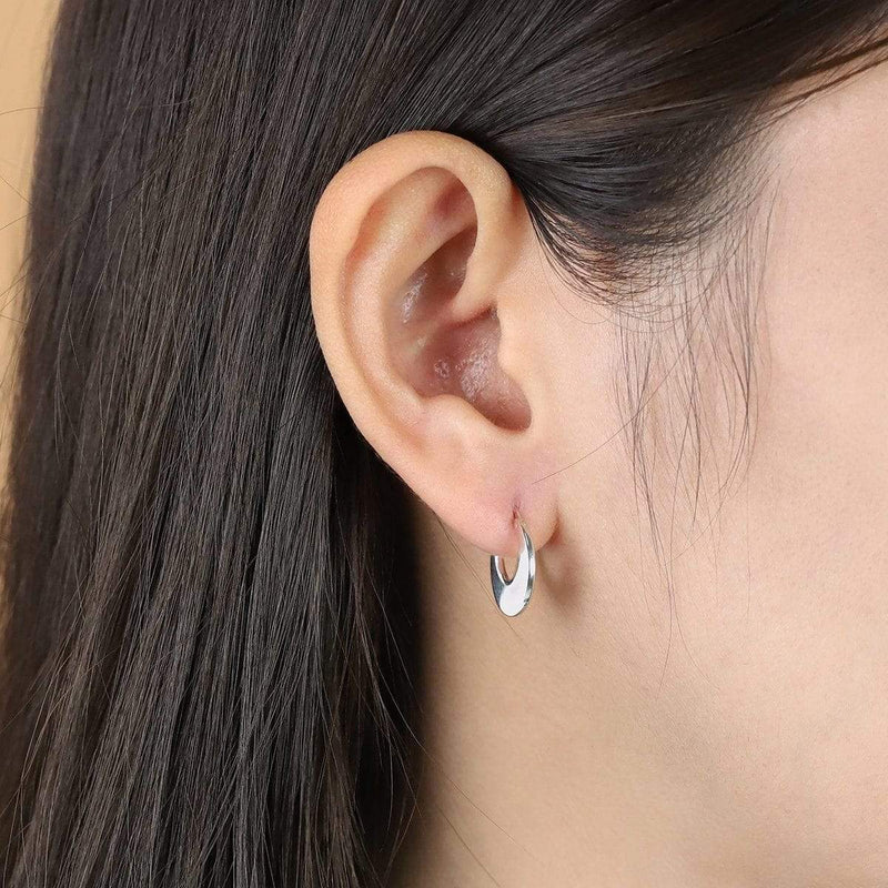boma new sterling silver hoop earring