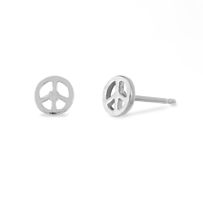 Boma New Earrings Peace Symbol Studs