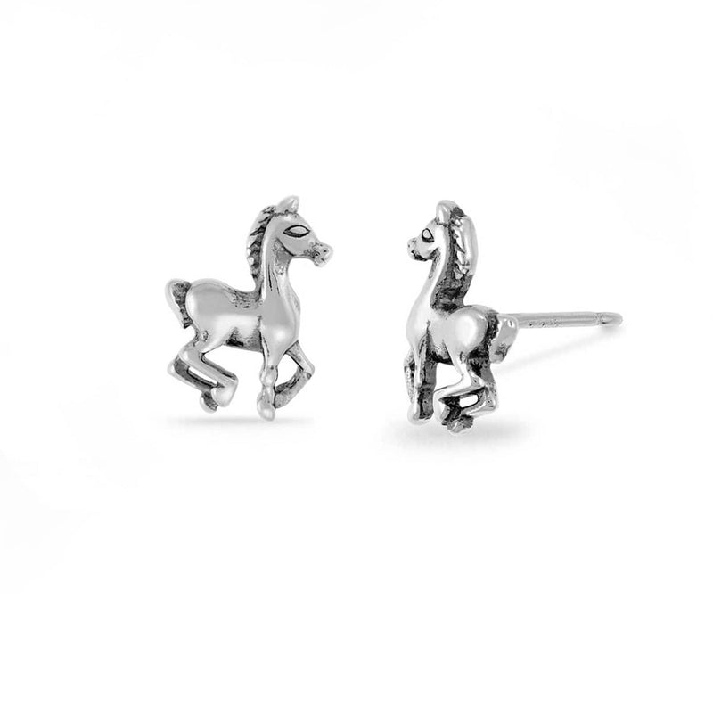 Boma New Earrings Prancing Horse Studs