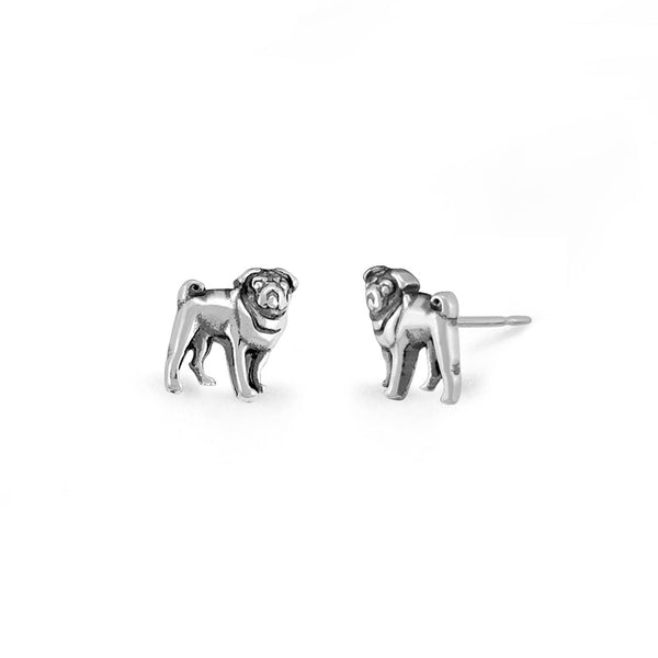 Boma New Earrings Pug Dog Studs