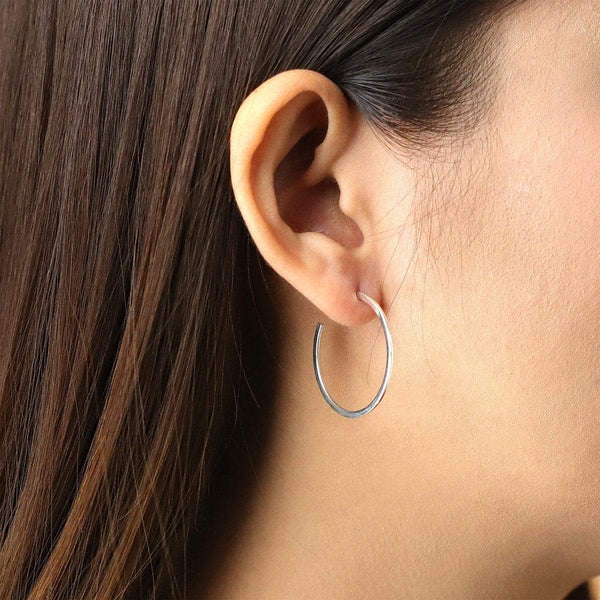 Boma New Earrings Rounded Medium Hoops