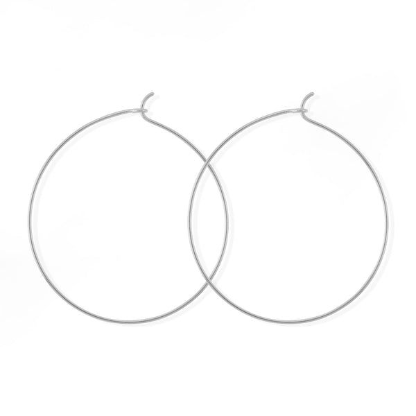 Boma New Earrings Sterling Silver Aiko Gold Hoops 1.5""