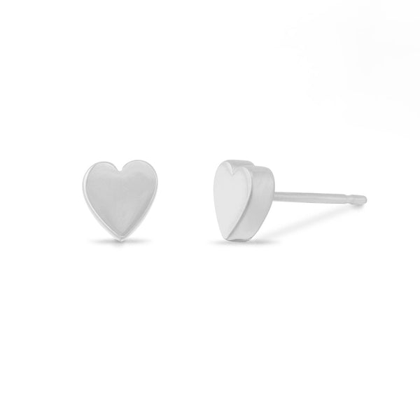 Boma Jewelry-New Earrings Sterling Silver Heart Studs