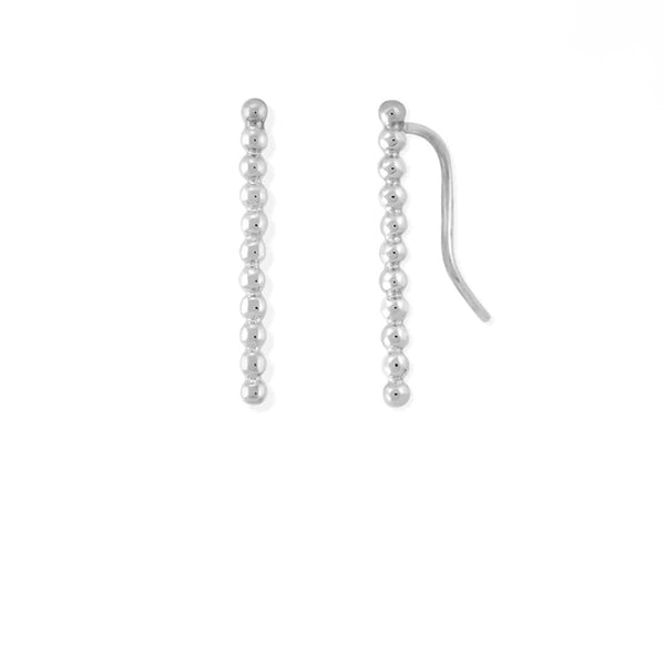 Boma New- Dot Long Bar Ear Crawlers ,Earring Crawlers