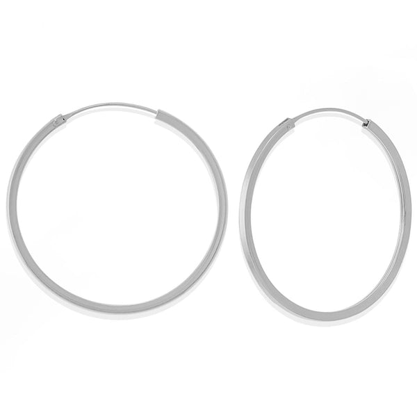 Boma New Earrings Sterling Silver Nikko Hoops 1.5""