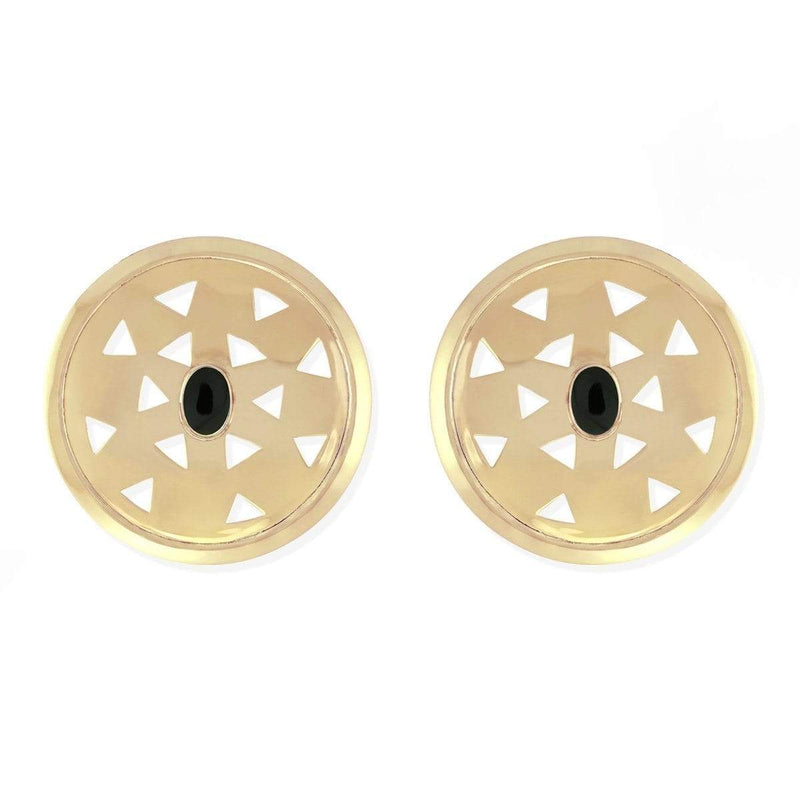 vintage earring studs with onyx cutout earring