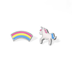 Boma New Earrings Unicorn and Rainbow Studs