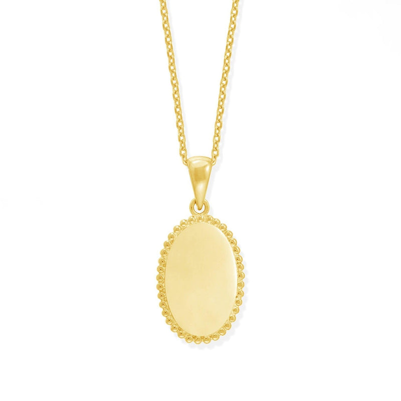 boma new necklace sterling silver ariana medallion with 14K gold vermeil