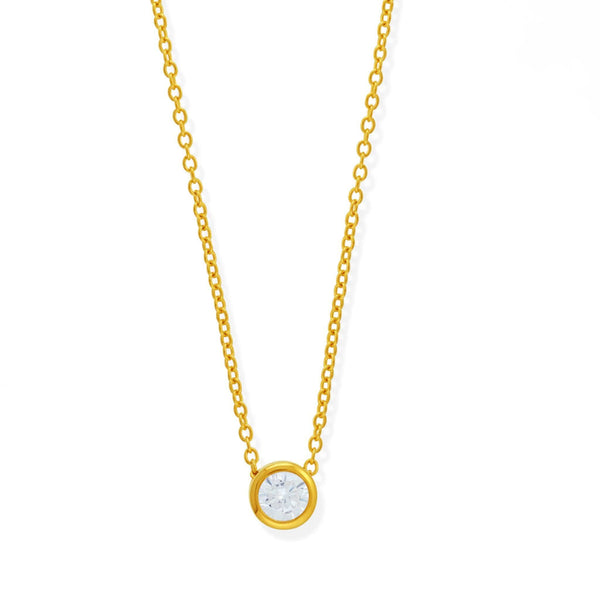 Boma New Necklaces 14K Gold Vermeil Belle Pendant Necklace