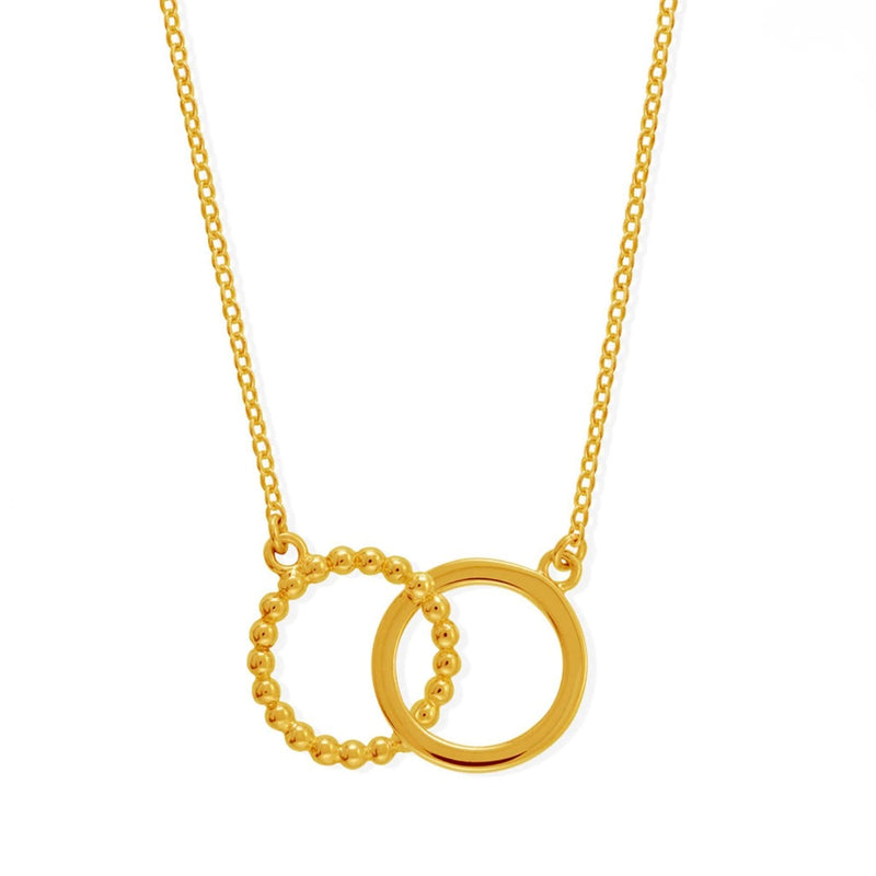 Boma New- 14K Gold Vermeil Deluxe Dot Circle Pendant Necklace
