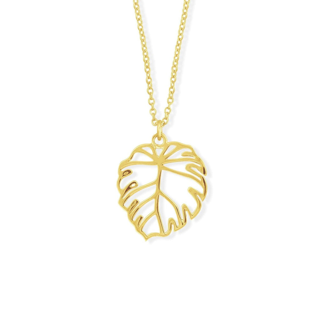 Boma New Necklaces 14K Gold Vermeil Monstera Leaf Necklace
