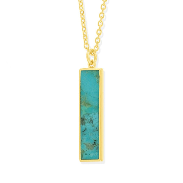 Boma New-Necklaces 14K Gold Vermeil with Turquoise Belle two way Necklace with stone
