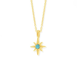 Boma New Luna Star Pendant with Turquoise Stone